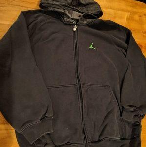 Jordan full zip hooded sweatshirt hoodie medium